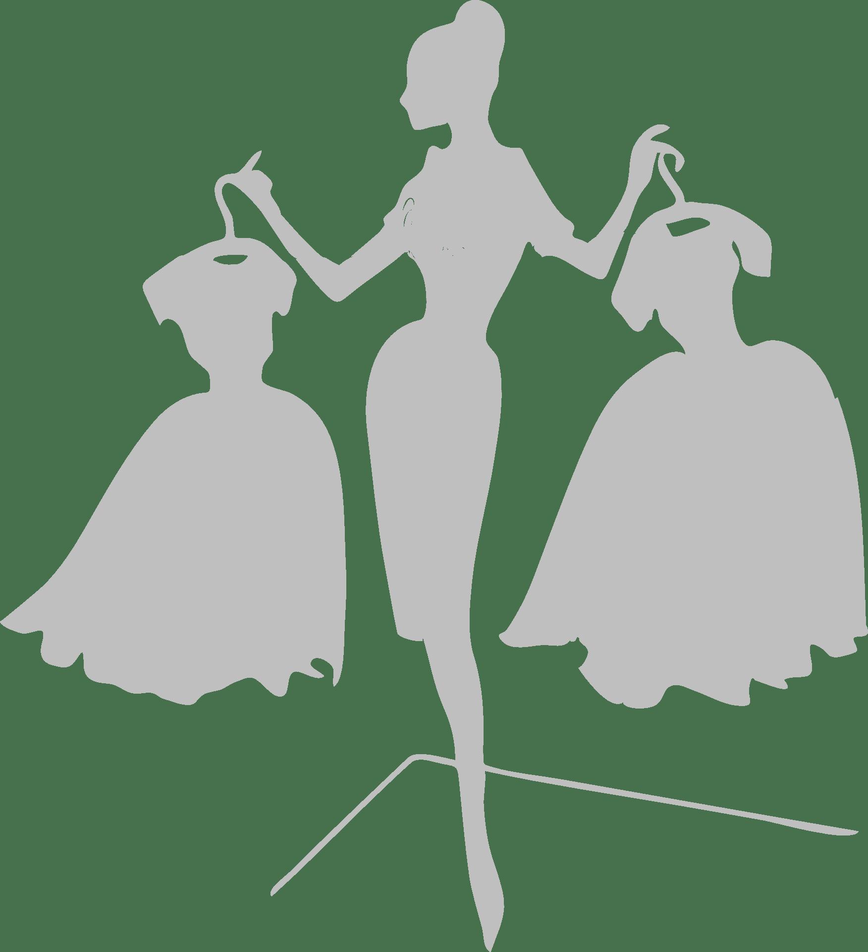 Silhouette d'une femme tenant des robes - Côté Mariage Perpignan 66 - Robe de mariage
