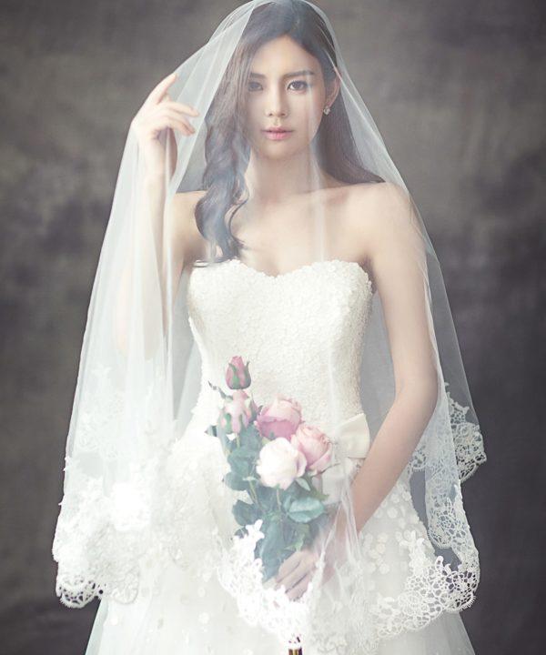 Voile sur une mariée - Mariage Perpignan - Voile Perpignan