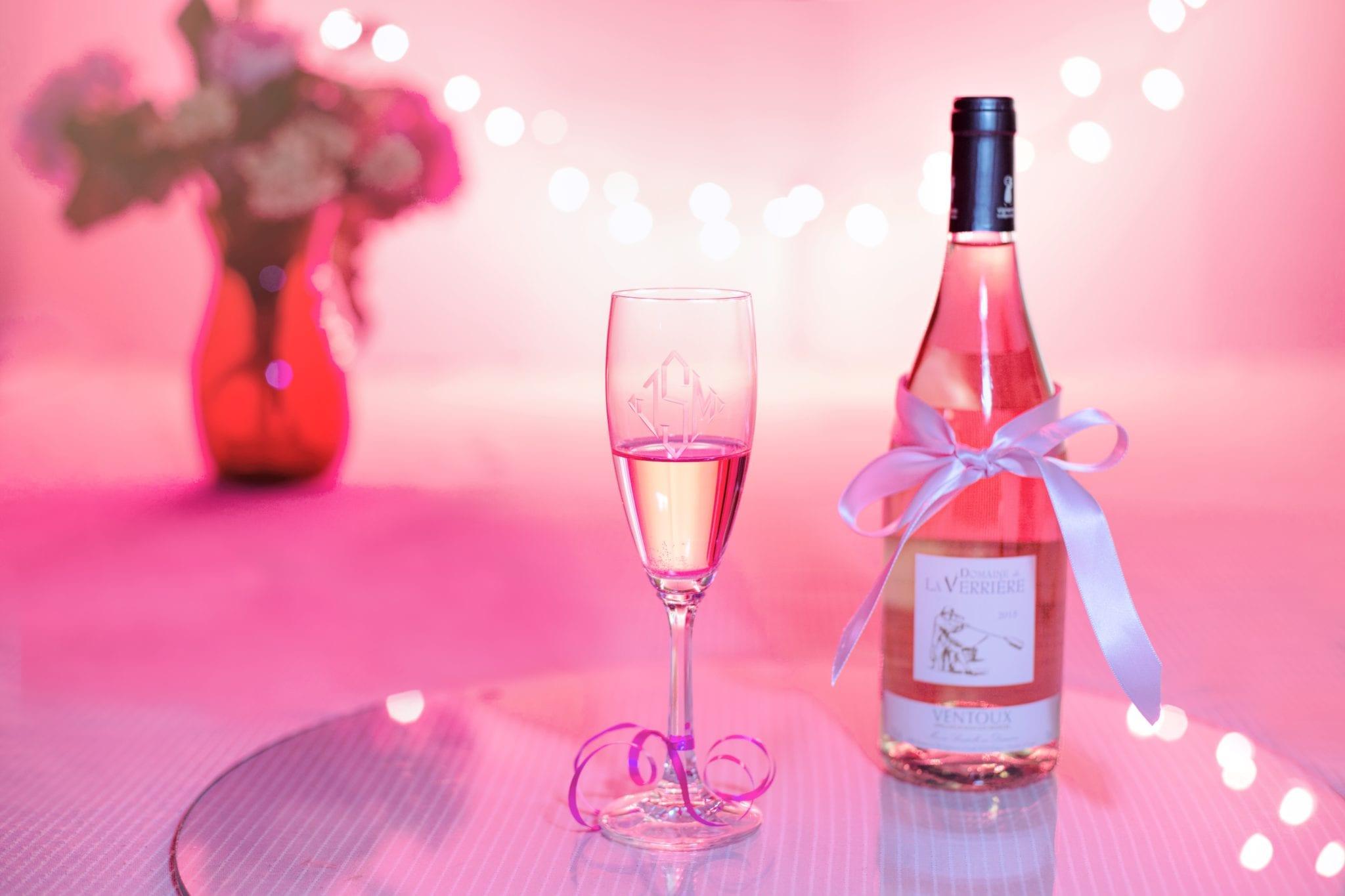 Photo d'une bouteille de vin rose - Mariage-Perpignan - Vin Perpignan