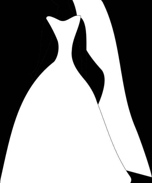 Femme avec robe et voile blanches - Mariage Perpignan